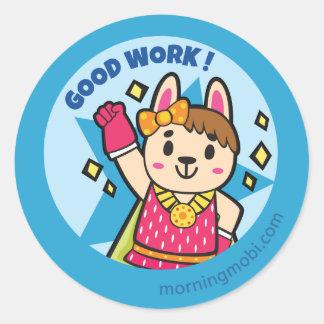 Super Hero Rabbit - Good Work Reward Stickers