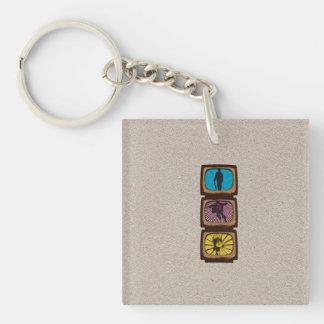 Super Hero Single-Sided Square Acrylic Key Ring