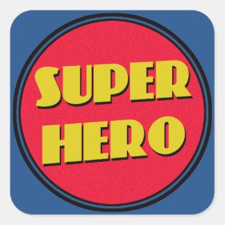 Super Hero! Square Sticker