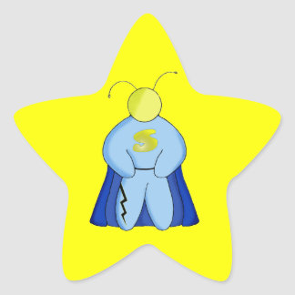 Super Hero Star Sticker
