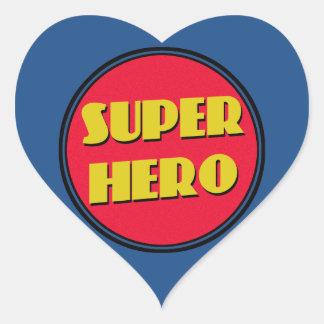 Super Hero! Heart Sticker