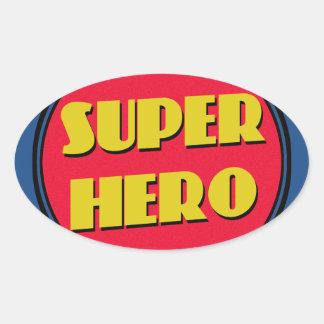 Super Hero! Oval Sticker