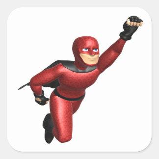 Super Hero Square Sticker