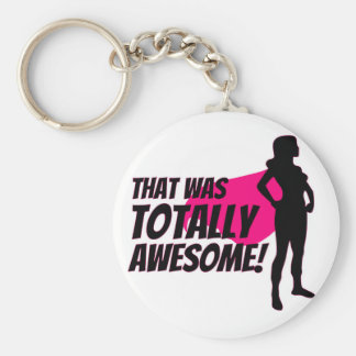 Super Hero Woman Power Key Ring