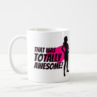 Super Hero Woman Power Left Coffee Mug