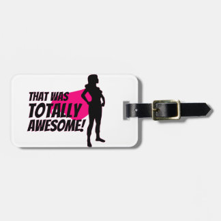 Super Hero Woman Power Luggage Tag