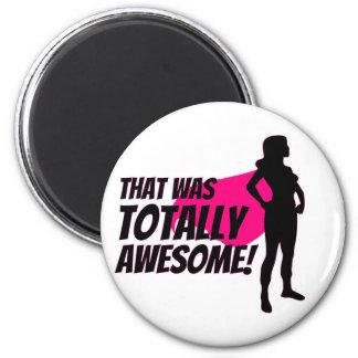 Super Hero Woman Power Magnet