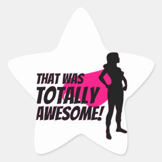 Super Hero Woman Power Star Sticker