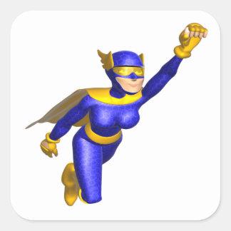 Super Hero Woman Square Sticker