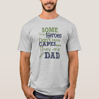 Super Heroes Father's Day T-Shirt