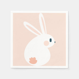 Super Kawaii Cute Easter Bunny. Disposable Napkins