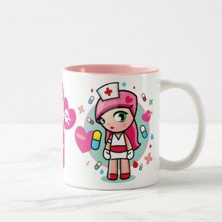 super kawaii nurse Two-Tone coffee mug