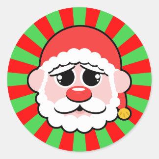 Super Kawaii Santa Classic Round Sticker