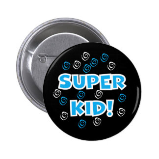 Super Kid Blue 6 Cm Round Badge