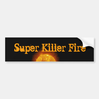 SUPER KILLER FIRE logo sticker