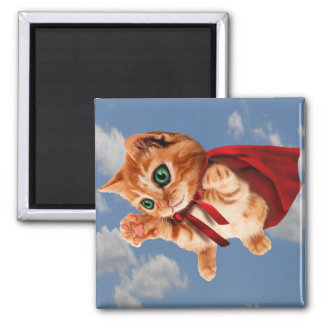 Super Kitty Square Magnet