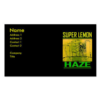 SUPER LEMON HAZE BUSINESS CARDS