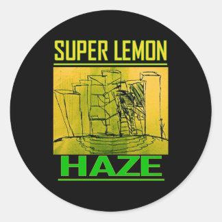 SUPER LEMON HAZE ROUND STICKER