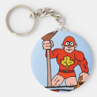 Super man in the garden key chains