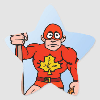 Super man in the garden star sticker