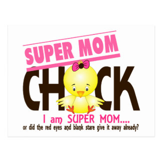 Super Mom Chick 2 Postcard