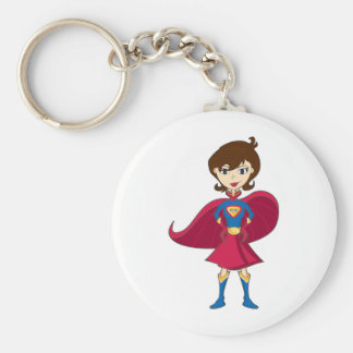 Super Mom Collection Basic Round Button Key Ring