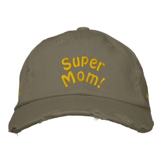 Super Mom! Customize Me! Embroidered Hats