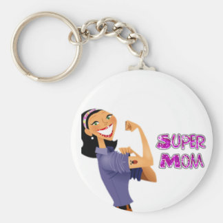 Super Mom Key Chain