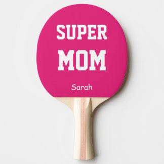 Super Mom Name Personalized Ping Pong Paddle