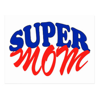 SUPER MOM POSTCARD