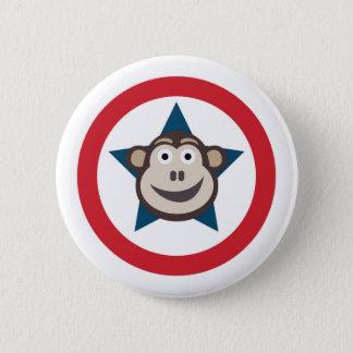 Super Monkey Graphic 6 Cm Round Badge