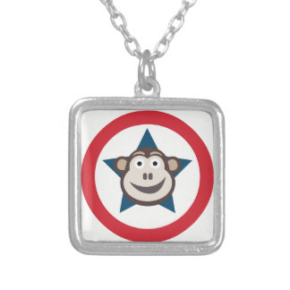 Super Monkey Necklace with Square Pendant