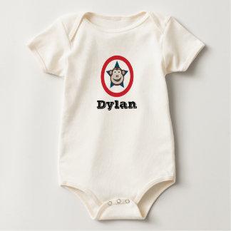 Super Monkey Organic Short-Sleeved Vest Baby Bodysuit