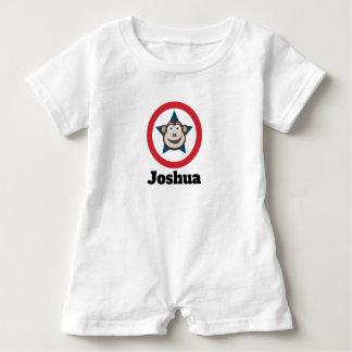 Super Monkey Short-Sleeved Personnalised Baby Bodysuit