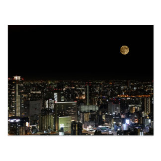 Super Moon - Blood Moon, Osaka Japan Postcard
