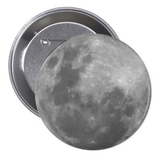 Super Moon Full Moon Lunar Photograph Sticker 7.5 Cm Round Badge