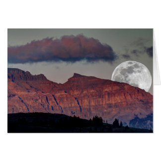 Super Moon Note Card