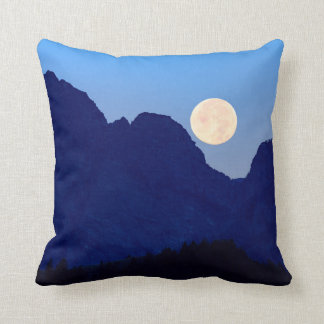 Super Moon Over The Grand Tetons Cushion
