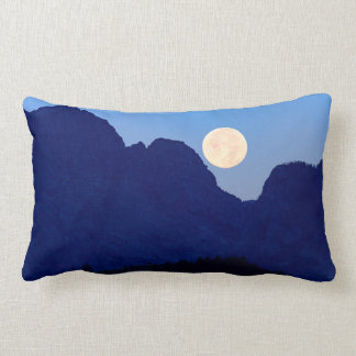 Super Moon Over The Grand Tetons Lumbar Cushion