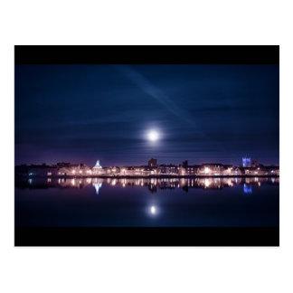 Super moon rising over blue Kings Lynn Postcard