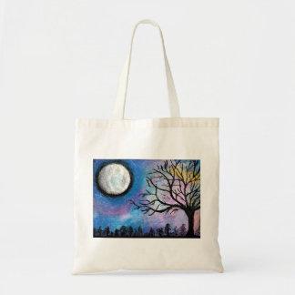 Super Moon & Tree Landscape