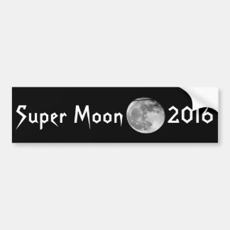 Super Moon with Airplane Passing/Customizable! Bumper Sticker