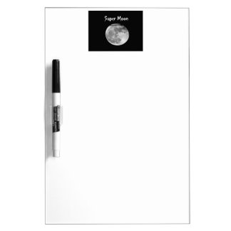 Super Moon with Airplane Passing/Customizable! Dry Erase Board