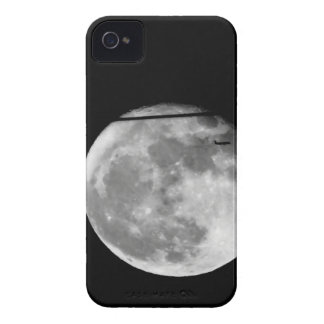 Super Moon with Airplane Passing/Customizable! iPhone 4 Covers