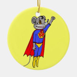 Super Mouse Christmas Ornament