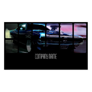 Super  Muscle Car in  Different Colors Pack Of Standard Business Cards