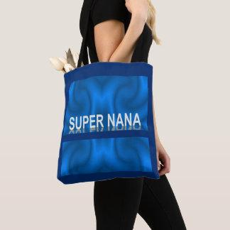 SUPER NANA Tote Bag for Grandma -Blue/White