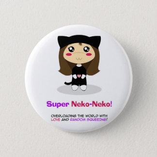 Super Neko-Neko 6 Cm Round Badge
