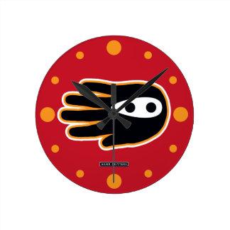 Super Ninja Hand Round Clock