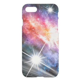 Super Nova Galaxy Space Rainbow Nebula Blue Pink iPhone 8/7 Case